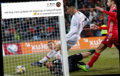 Cristiano Ronaldo 'steals' Jota's goal to leave him one away from 100th national strike in Portugal's win vs Luxembourg – The Sun