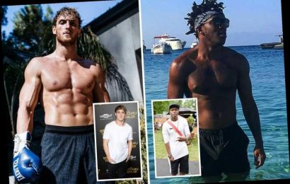 KSI and Logan Paul's incredible body transformations since YouTube days as they prepare for cruiserweight boxing fight – The Sun