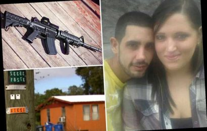 AR-15 wielding pregnant mum saves lives of daughter, 11, and battered husband by shooting dead armed burglar
