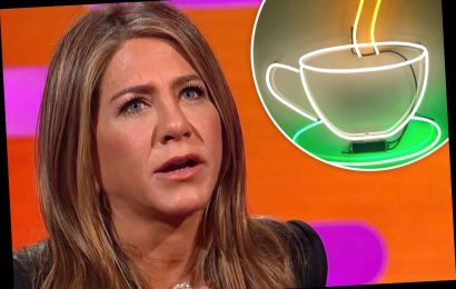 Jennifer Aniston took a giant neon coffee cup from the set of Friends – and now it's hanging in her office – The Sun
