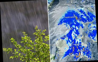 UK weather forecast – Torrential rain to lash Britain for two days after -7C big freeze – The Sun