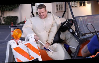 Matt Damon Takes On Hilarious Golf Cart Obstacle Course in Sumo Suit on 'Ellen' – Watch Here!