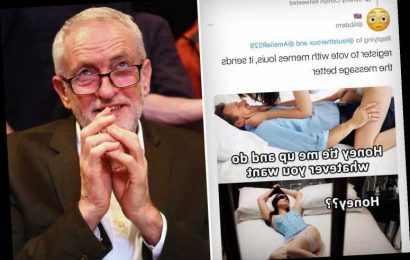 Labour leader Jeremy Corbyn red faced after retweeting kinky bondage meme of masked woman tied to a bed – The Sun