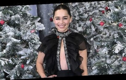 Emilia Clarke Rocks Gown With Open Top & Nothing Underneath At 'Last Christmas' Premiere