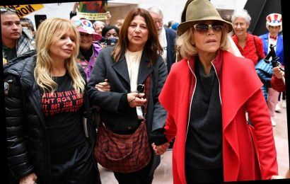 Jane Fonda, Catherine Keener and Rosanna Arquette Arrested at DC Climate Change Protest