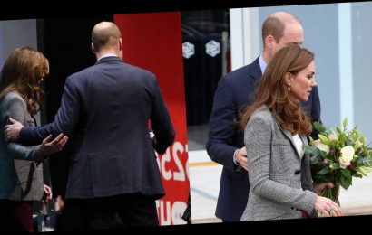 Kate Middleton and Prince William Had Some Brief PDA Moments at Their Shout Engagement