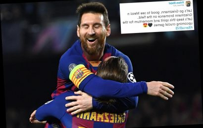 Fans slam 'stupid theory' that Messi doesn't like Griezmann after their passionate celebration in Barca win vs Dortmund – The Sun