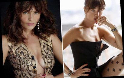 Helena Christensen, 50, shows off her amazing figure in a corset and sexy stockings – The Sun