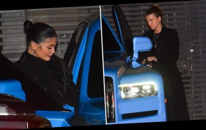Kylie, Sofia Richie and Caitlyn Jenner have dinner at Nobu in Malibu