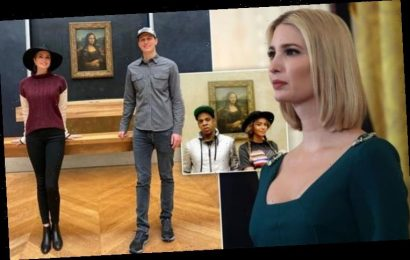 Ivanka Trump copies Beyoncé & Jay-Z by posing in front of Mona Lisa on festive Paris break
