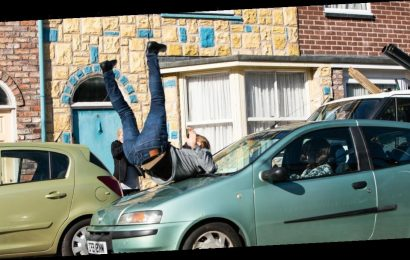 Coronation Street's Daniel gets hit by a car as he spirals out of control