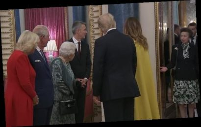 Queen 'directs' Anne while welcoming Trump to Buckingham Palace