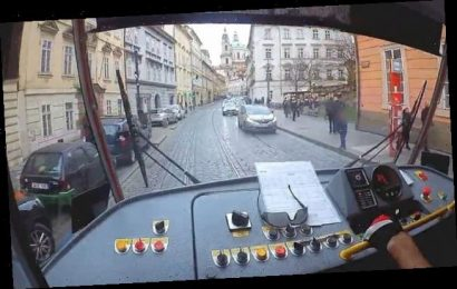 Heartwarming moment tram driver stops to help lost boy