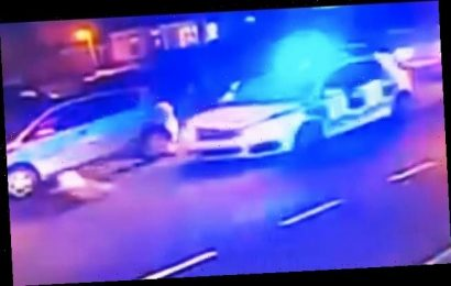 Police car catapults woman, 61, along road