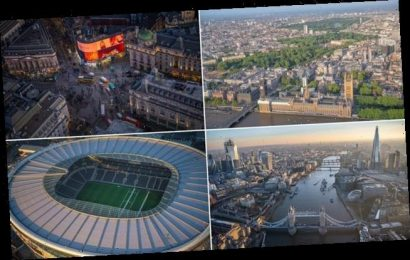 Aerial images show off London's famous landmarks