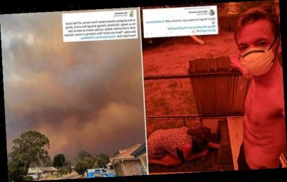 Britons trapped by Australia's wild-fires share haunting images