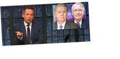 Seth Meyers Takes A Withering Look At 'The Republican Party Of Trump'