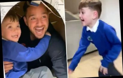 Extra Camp's Adam Thomas surprises his children in adorable video after not seeing them for two months – The Sun