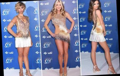 Maura Higgins, Caprice Bourret and Trisha Goddard wow in glitzy outfits at Dancing On Ice 2020 launch – The Sun