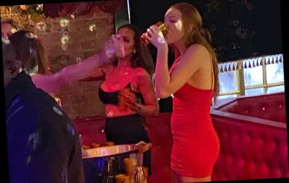 Peppa Pig star Harley Bird, 18, looks amazing in red dress as she hogs the limelight at boozy 18th birthday party – The Sun