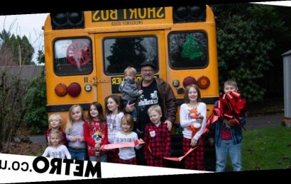 Granddad buys bus to fulfill dream of taking 10 grandkids to school every day