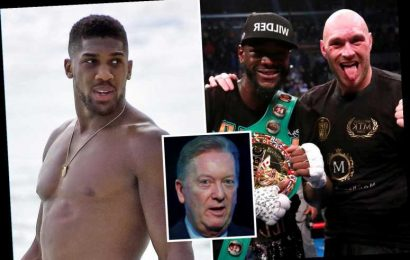Anthony Joshua should give up his heavyweight belts to seal fight with Tyson Fury or Deontay Wilder, claims Frank Warren – The Sun