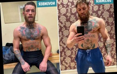 Conor McGregor shows off incredible body transformation as UFC star looks jacked with bulking muscles ahead of return – The Sun