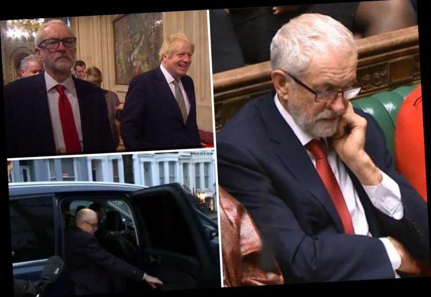 Election loss finally gets to Jeremy Corbyn as he slams car door, ignores Boris and scowls in Commons – The Sun