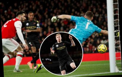 Arsenal 0 Man City 3 LIVE: Stream and TV channel as hapless Gunners torn apart by De Bruyne – latest updates – The Sun
