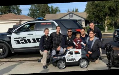 California police department deliver special Christmas gift to son of fallen officer
