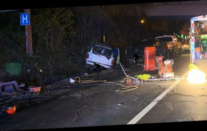 Suspected drunk driver hits 'entire crew' of road workers on Virginia interstate, officials say
