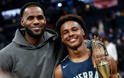 Bronny James Is Clutch in Victory, With LeBron Cheering on the Sidelines