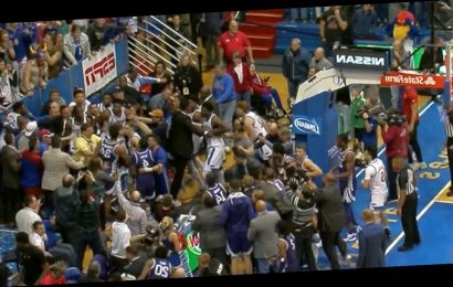 Massive Brawl Breaks Out Between Kansas, Kansas State Players After Game