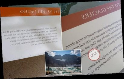 Park to remove signs warning 'all glaciers will be gone by 2020'