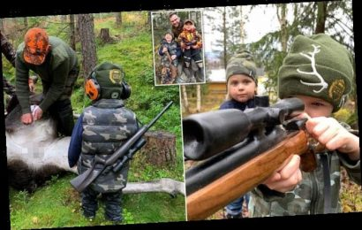 Father teaches children how to hunt so they 'respect' animals