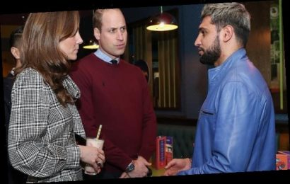 Amir Khan says UK is NOT a racist country as he meets William and Kate