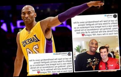 Figo and Ronaldo post exact same condolence message to Kobe Bryant