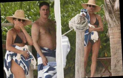 Jennifer Aniston stuns in revealing string bikini on Mexico vacation with director friend Will Speck