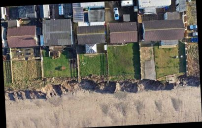 Dozens of homes will crumble into sea on fastest eroding coastline where 9 metres of land has vanished in months