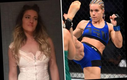 UFC star Felice Herrig says she was punched in the face by a woman in row over coin after watching Conor McGregor fight – The Sun