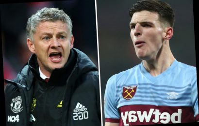 Declan Rice explodes with rage in front of Man Utd scout as Solskjaer sends his spy to watch West Ham star vs Sheff Utd – The Sun