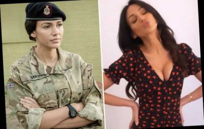 Michelle Keegan slips into patterned dress for sexy selfie after quitting Our Girl
