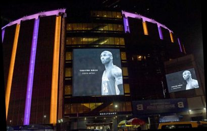 New York fans, Madison Square Garden pay tribute to Kobe Bryant
