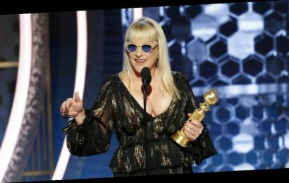 Patricia Arquette Ignores Ricky Gervais Advice To Golden Globe Field, Rips Donald Trump Iran Moves In Acceptance Speech