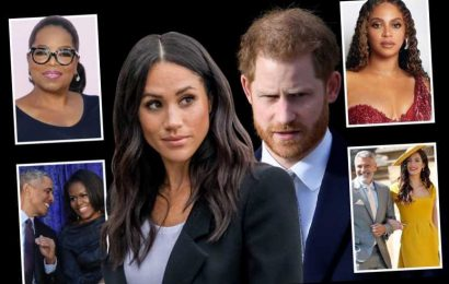 Inside the court of Harry and Meghan and the people who will be advising them on their next move – from Oprah to Hillary – The Sun