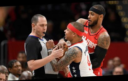 Isaiah Thomas of Washington Wizards ejected less than 2 minutes into game for contact with official