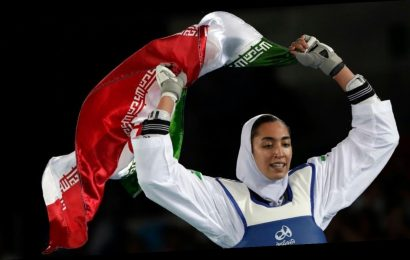 Iran's only female medalist says she defected