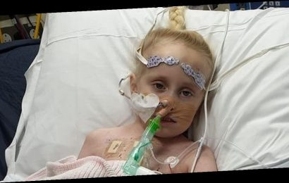 Brave girl, 5, with 'half a heart' faces fight for life after suffering stroke