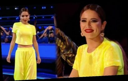Cheryl shows off toned midriff in neon co-ords on The Greatest Dancer