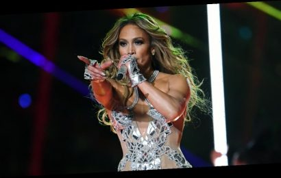 J Lo Matched Her Sexy Super Bowl Finale Outfit With a Stunning Swarovski Crystal Manicure